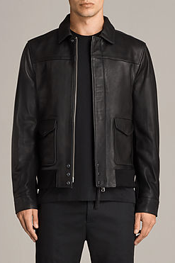 MEN,S BLACK SOFTLAMBSKIN PILOT JACKET NEW