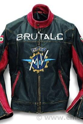 MEN'S BLACK AND RED BRUTALE MV AUGUSTA LEATHER JACKET